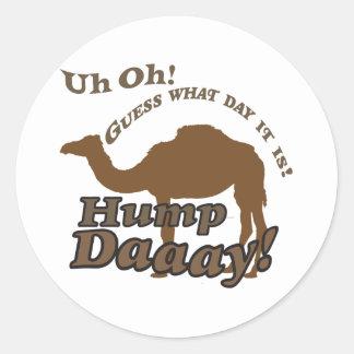 ¡Camello del día de chepa! Pegatina Redonda