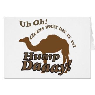 ¡Camello del día de chepa! Tarjeta De Felicitación