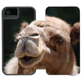 Camello del día de chepa funda cartera para iPhone 5 watson