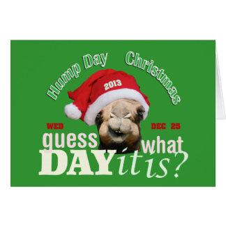 Camello del navidad felicitación