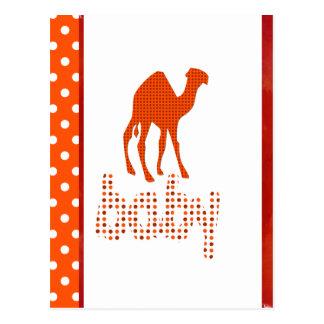 Camello del rojo del diseño del bebé postal