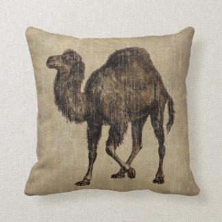 Camello del vintage almohada