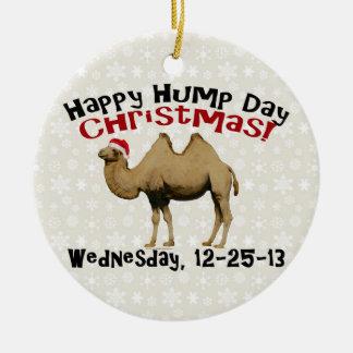 Camello divertido de miércoles de chepa del navida ornamentos de reyes magos