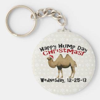 Camello divertido de miércoles de chepa del navida llavero personalizado