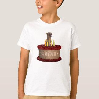 Camello divertido del feliz cumpleaños playera