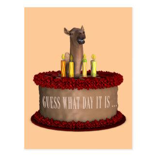 Camello divertido del feliz cumpleaños postal
