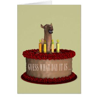 Camello divertido del feliz cumpleaños tarjeta de felicitación