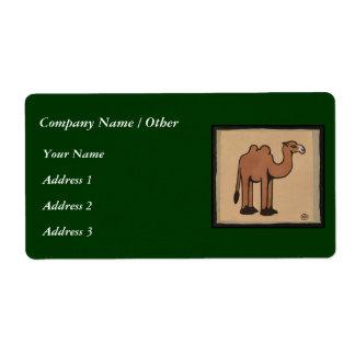 Camello - ejemplo de libro anticuario colorido etiqueta de envío