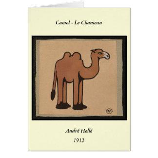 Camello - ejemplo de libro anticuario colorido tarjeta de felicitación