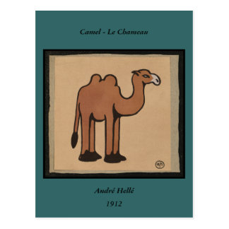 Camello - ejemplo de libro anticuario colorido tarjeta postal