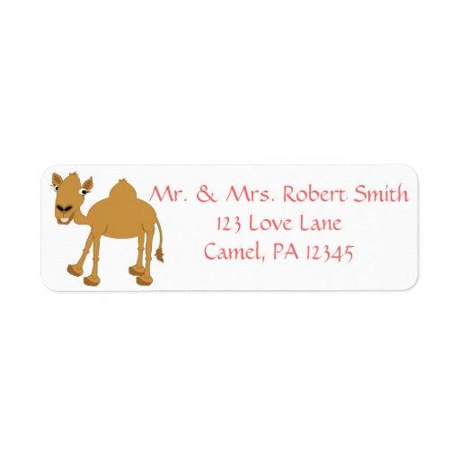 Camello Etiquetas De Remite