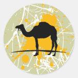Camello Etiquetas Redondas