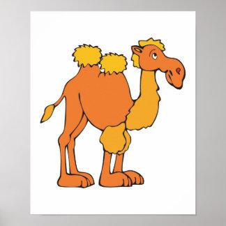 camello feliz póster