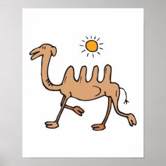 camello humped 4 tontos póster