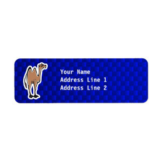 Camello lindo; Azul Etiquetas De Remite