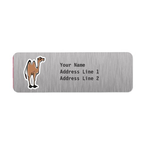 Camello lindo; Metal-mirada Etiquetas De Remite