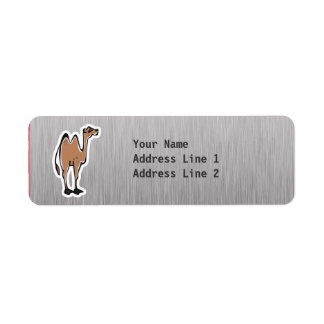Camello lindo; Metal-mirada Etiqueta De Remite