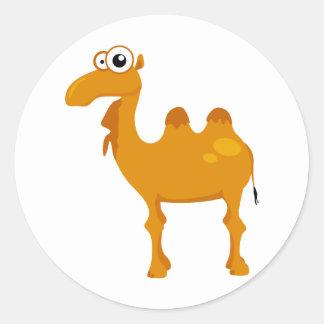 Camello lindo etiqueta redonda