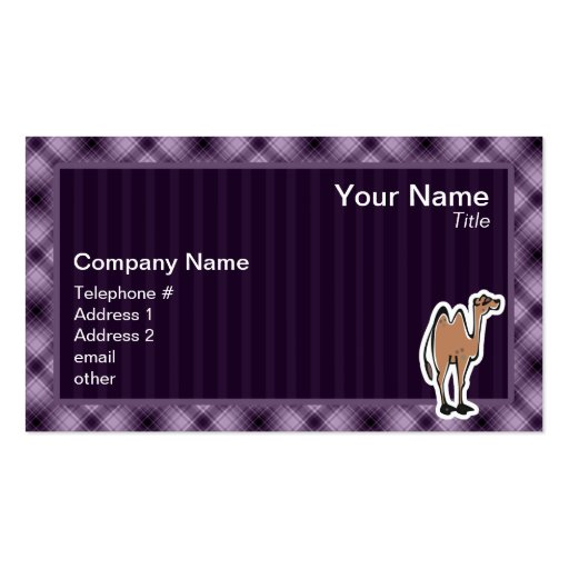 Camello lindo; Púrpura Tarjetas De Visita