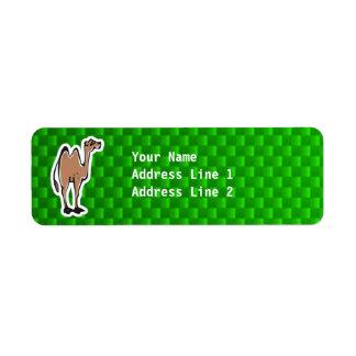 Camello lindo; Verde Etiqueta De Remite