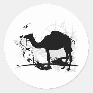 Camello Pegatinas Redondas