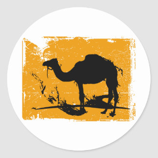 Camello Etiqueta Redonda