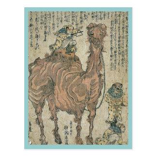 Camello por Utagawa, Kuniyasu Ukiyoe Postal