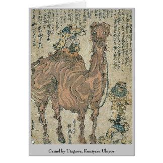 Camello por Utagawa, Kuniyasu Ukiyoe Tarjeta Pequeña