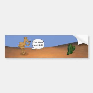 Camello que fuma pegatina para auto