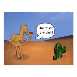 Camello que fuma postal