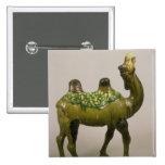 Camello que se lamenta chino de la cerámica pin cuadrada 5 cm