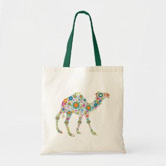 Camello retro colorido de la flor