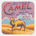 Camello retro de la etiqueta del petardo del
