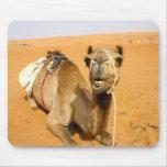 Camello sonriente divertido alfombrillas de raton
