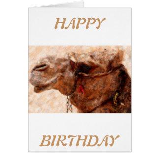 camello tarjeta de felicitación