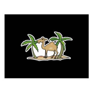 camello y palmeras postales