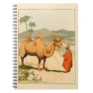 Camello y viajero africanos del desierto libretas
