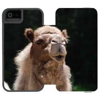 Camello Funda Cartera Para iPhone 5 Watson