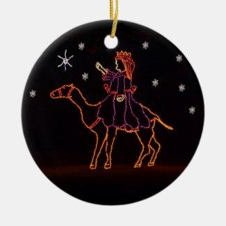 Camello ZZ H 2016 de la estrella de WIseman del Adorno Navideño Redondo De Cerámica