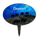 Camellos de la caravana del desierto figura de tarta