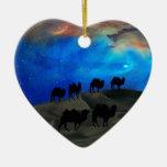 Camellos de la caravana del desierto adorno para reyes