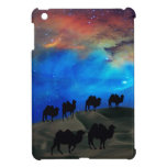 Camellos de la caravana del desierto iPad mini cárcasa