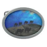 Camellos de la caravana del desierto hebilla cinturón