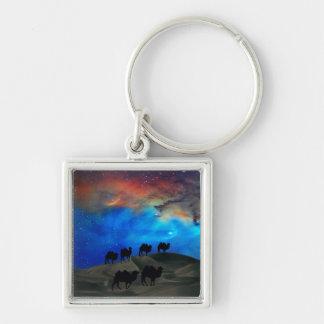 Camellos de la caravana del desierto llavero personalizado