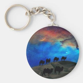 Camellos de la caravana del desierto llavero