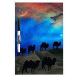 Camellos de la caravana del desierto pizarras