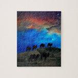 Camellos de la caravana del desierto puzzles con fotos