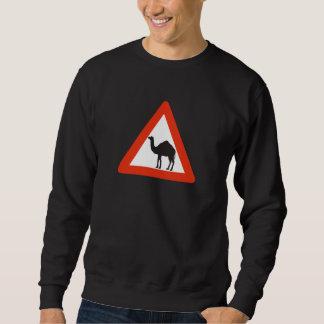 Camellos de la precaución, señal de tráfico, sudadera con capucha