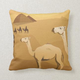 camellos egipcios del desierto almohadas