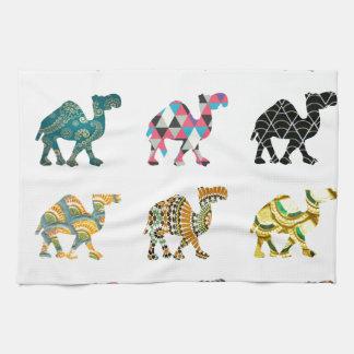 Camellos lindos de la diversión toallas
